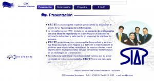 Sitio web inicial en el año 2000.